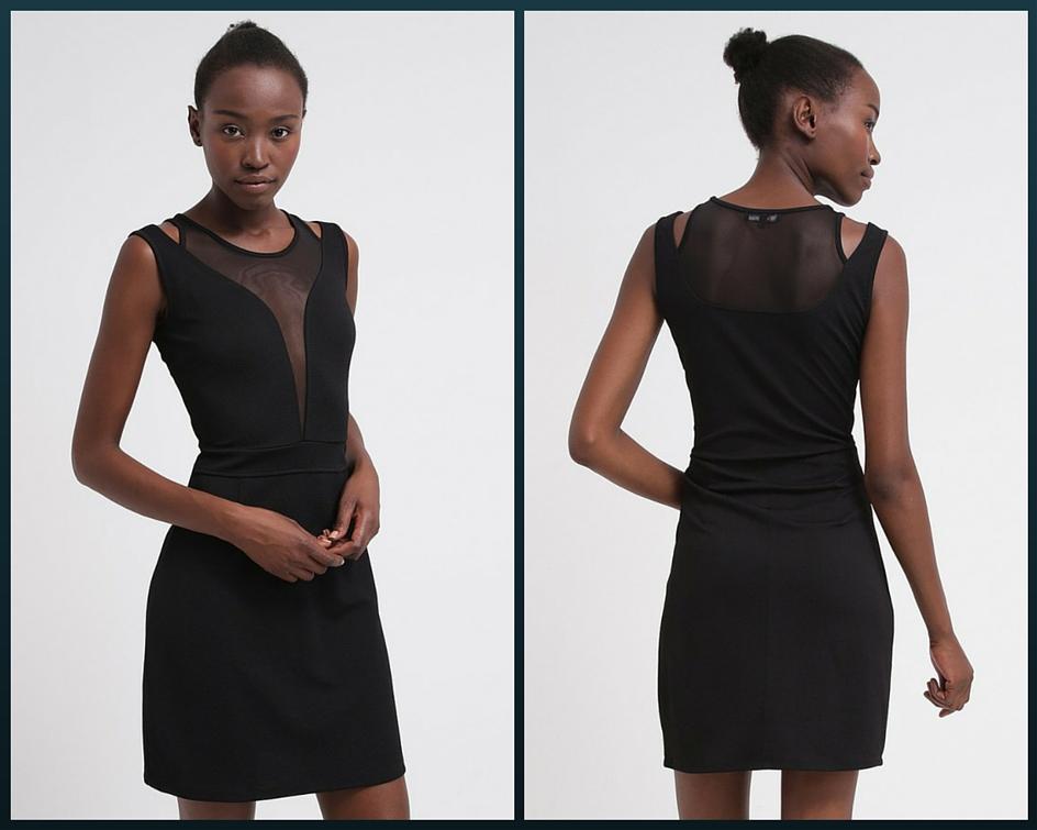 czarna elegancka krótka sukienka na studniówkę