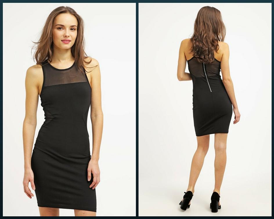 czarna krótka sukienka na studniówkę