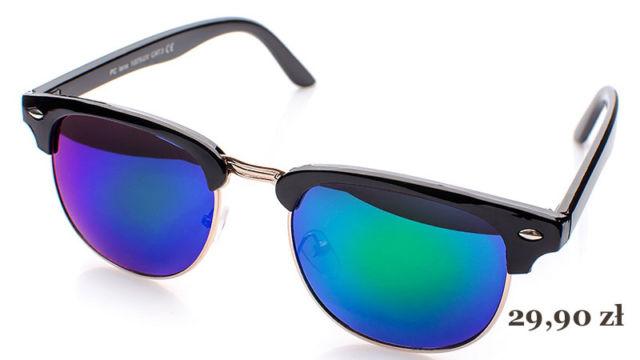 okulary przeciwsłoneczne clubmaster lustrzanki
