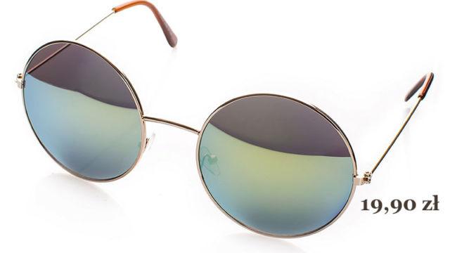 damskie okulary przeciwsłoneczne lustrzanki, lenonki