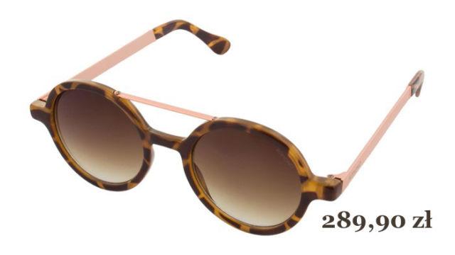 modne okulary przeciwsłoneczne VIVIEN METAL SERIES TORTOISE