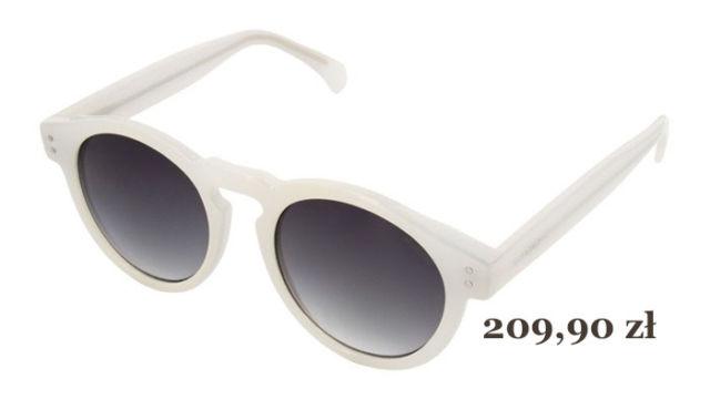 białe okulary przeciwsłoneczne Clement