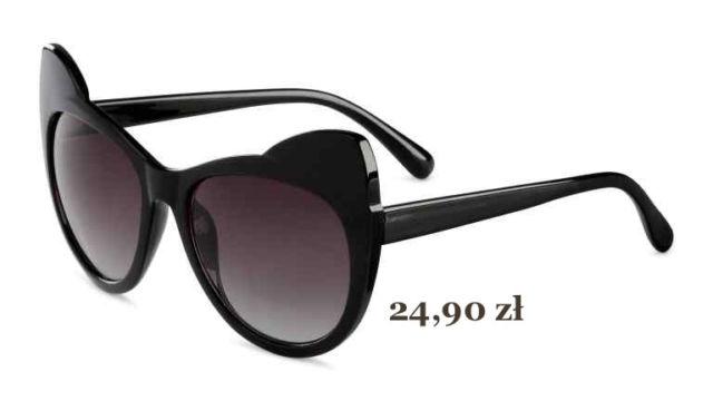 kocie damskie okulary przeciwsłoneczne