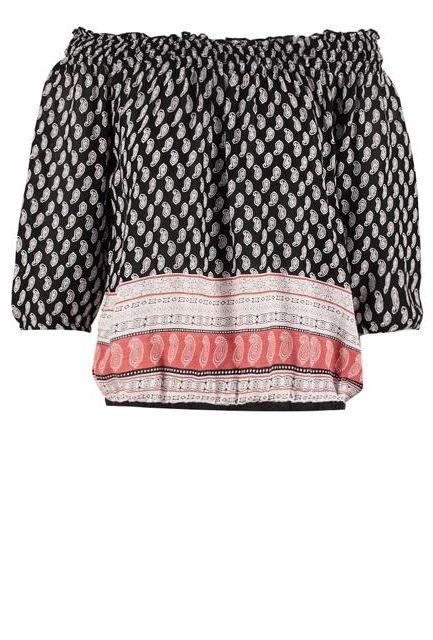 kolorowa bluzka z dłuższym rękawem