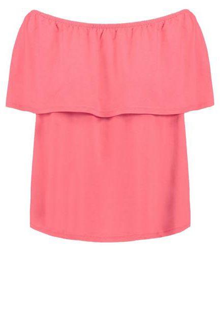 różowa bluzka na lato